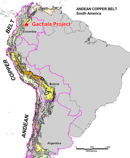 Gachala Copper Project location within the Andean Copper Belt